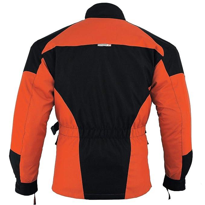 color negro//naranja Chaqueta impermeable de alta protecci/ón para motocicleta CJ-9403