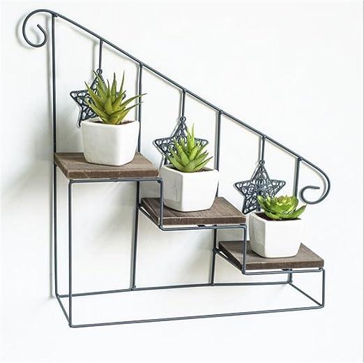 HQQ Estante para paredes Estante de la escalera Estante de la flor Estante de la flor