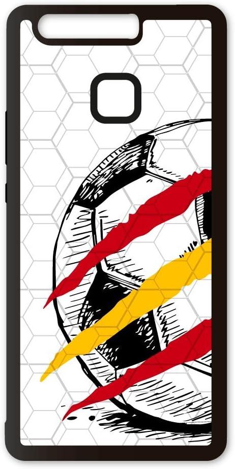 PHONECASES3D Funda móvil Compatible con Huawei P9 Mundial Rusia 2018 España Blanca. Carcasa de TPU de Alta protección. Funda Antideslizante, Anti choques y caídas.: Amazon.es: Electrónica