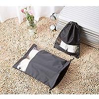 VORCOOL Shoe Bags Travel Storage Organizer Bag Waterproof Portable for Men Women Small Size (Black)