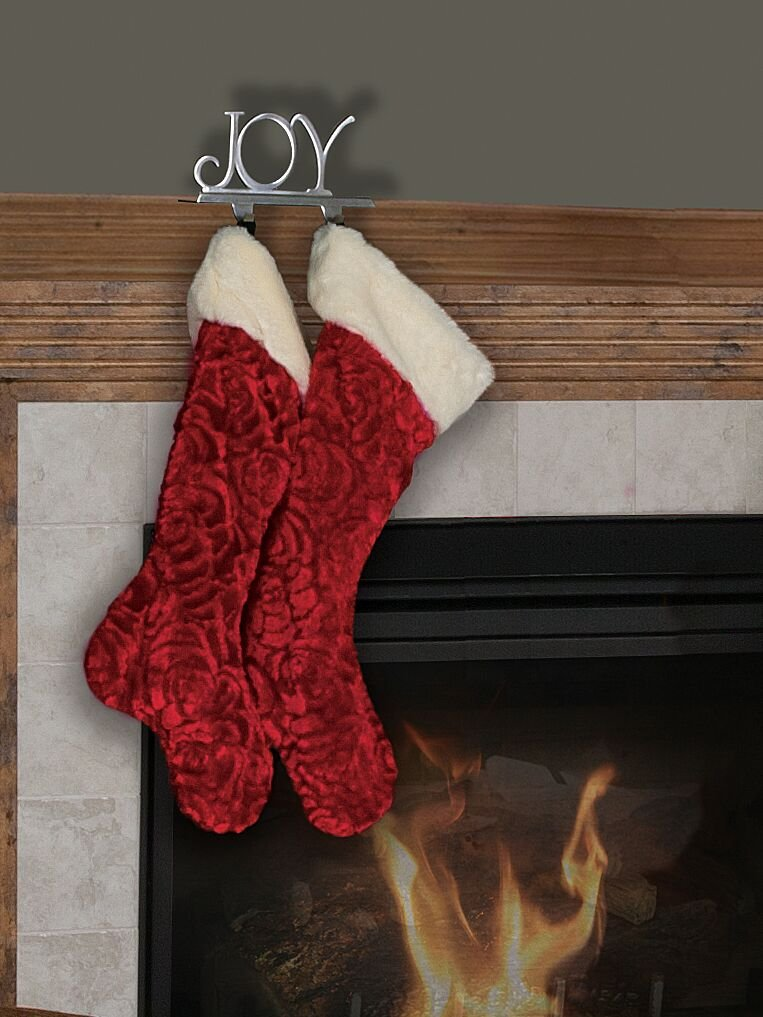 Red Tree Skirt and Stockings by Ditz Designs; Christmas Rose Trim Package; Reversible Red/Cream Tree Skirt with Matching Red Stockings