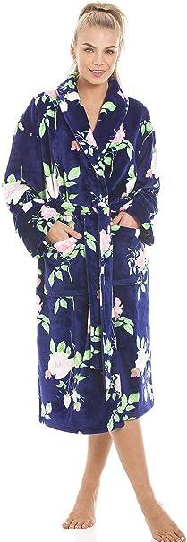 Camille Albornoz Fleece suave para mujer Azul floral 44116