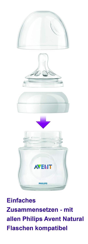 Philips Avent SCF041/27-2 - Tetinas natural flujo recién nacido, 0m+, con 1 agujero