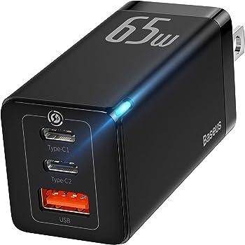 Baseus 65W 3 Port PD 3.0 Gan Tech USB C Charger