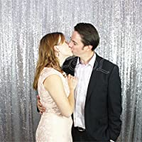 5ft X 7ft Silver Sequin Backdrops, Party Backdrops,wedding Backdrops, Sparkling Photography