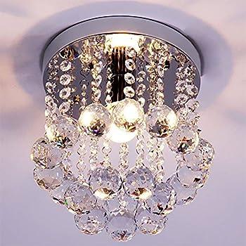 Mini Style 1 light Flush Mount Crystal Chandelier Amazon