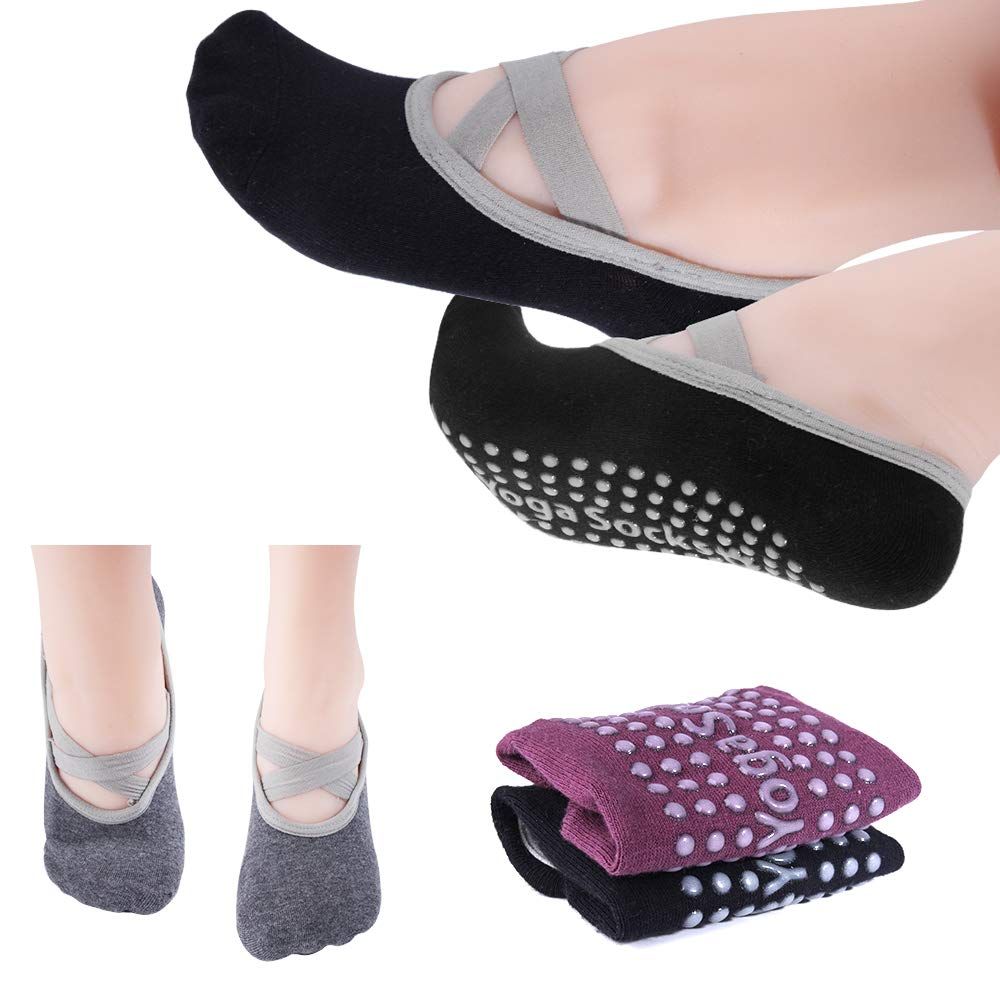 Amazon.com: Hicdaw - 4 pares de calcetines antideslizantes ...