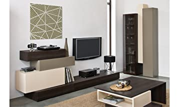 Wohnwand PHANTASY Wohnzimmer Möbel Set Anbauwand Schrankwand Komplett  Standregal Kommode TV Schrank
