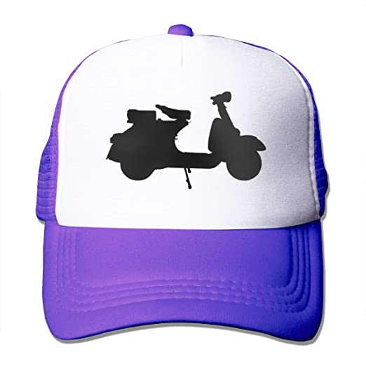 Piaggio Vespa Scooter Motorcycle Trucker Hats for Unisex Messy Trucker  Adjustable Plain Baseball Visor Snapback Embroidered 4b968aee0dc