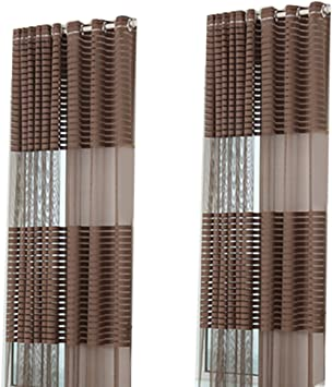 Steellwingsf balcón Moderno con Tiras de Tul Voile puntilla Cortinas Cortinas Cortinas para salón, Dormitorio y para Kitchen Hotel Decor: Amazon.es: Hogar