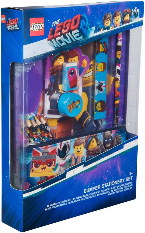 Sambro LEG2-6434 Bumper Lego Movie - Juego de Accesorios para Escribir (12 Piezas, Incluye Cuaderno, Estuche y Accesorios), Multicolor
