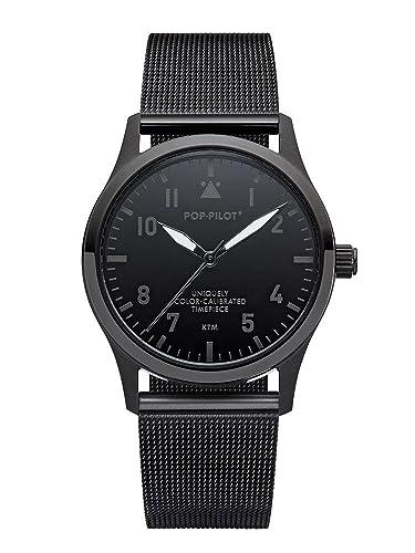 54fde53302ec Pop Pilot Reloj Analogico para Mujer de Cuarzo con Correa en Acero  Inoxidable KTM  Amazon.es  Relojes