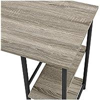 Ameriwood Home 9254196COM Garrett Desk Combo Altra Metal Student Bookcase, Sonoma Oak/Gunmetal Gray