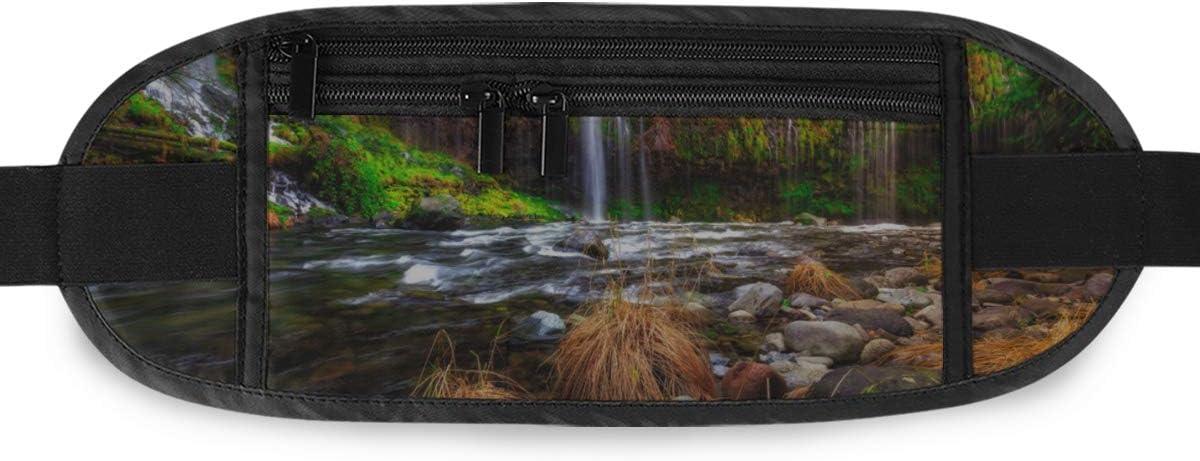 Travel Waist Pack,travel Pocket With Adjustable Belt Mossbrae Falls California Running Lumbar Pack For Travel Outdoor Sports Walking