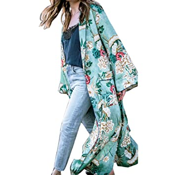 chaquetas de mujer invierno Sannysis bohemia Long Kimono ...