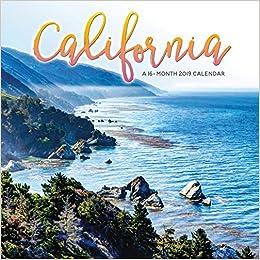 State Of California Calendar 2019 2019 California Wall Calendar: Trends International: 9781438860626
