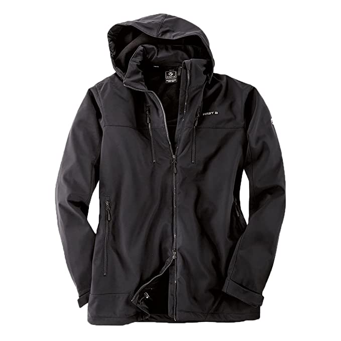 First B Chaqueta Softshell Donovan Negra Oversize: Amazon.es ...