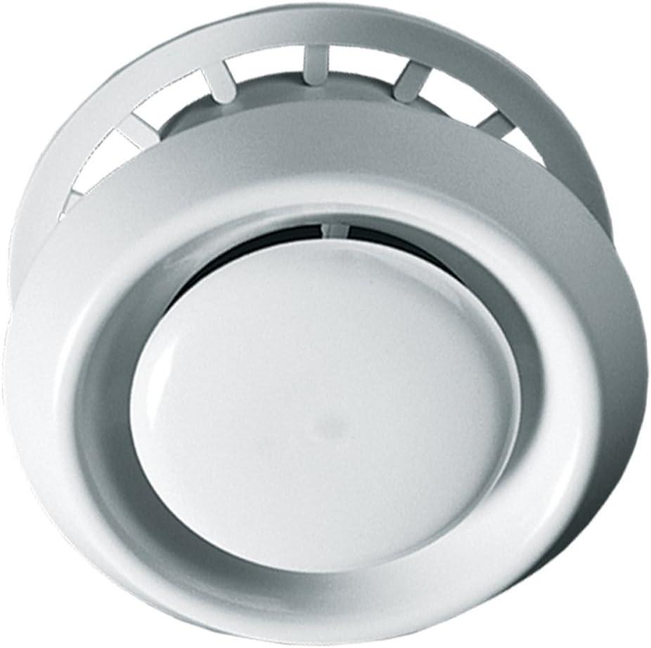 Blauberg UK Blanc/ Conduit rond en plastique VPR 100/mm et fixations pour extracteur dair