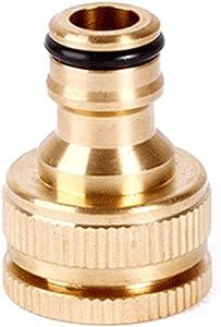 OUNONA 1/2 3/4 Inch Brass Faucet Adapter Washing Machine Hose Fittings Quick Connector Adapter Kitchen Faucet Garden Hose Adapter