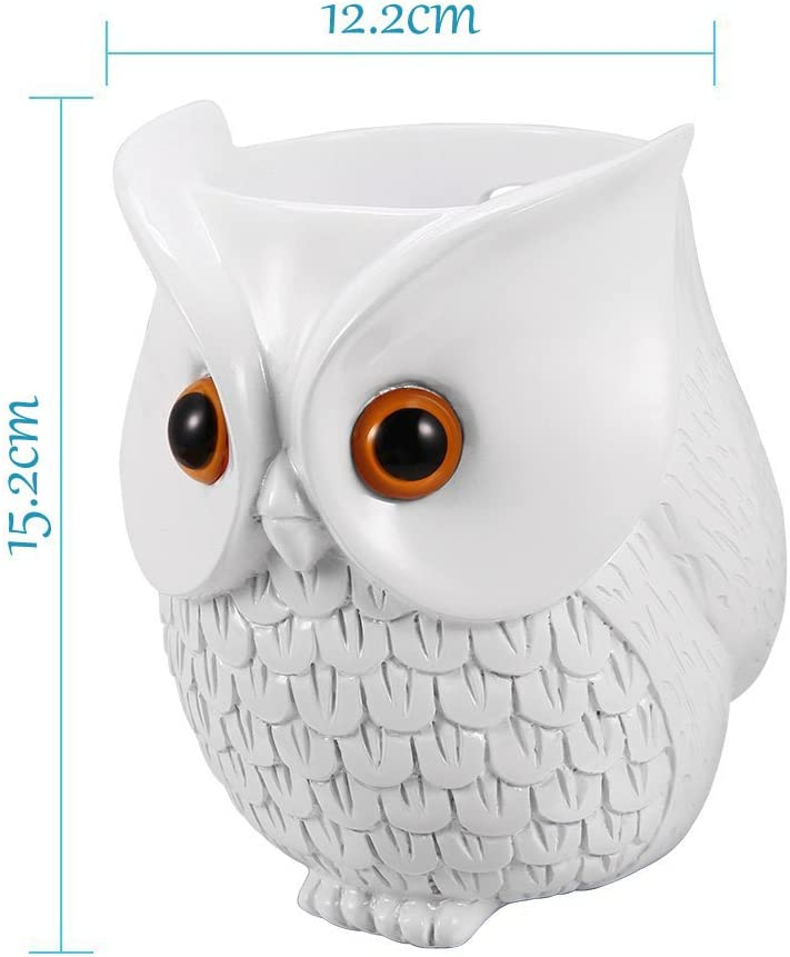 Hihoddy Owl Statue Crafted Guard Station,Perfect Accessory for  Echo Dot 2nd and 1st generation Speaker Nice Decoration and Success Gift BFF For Alexa