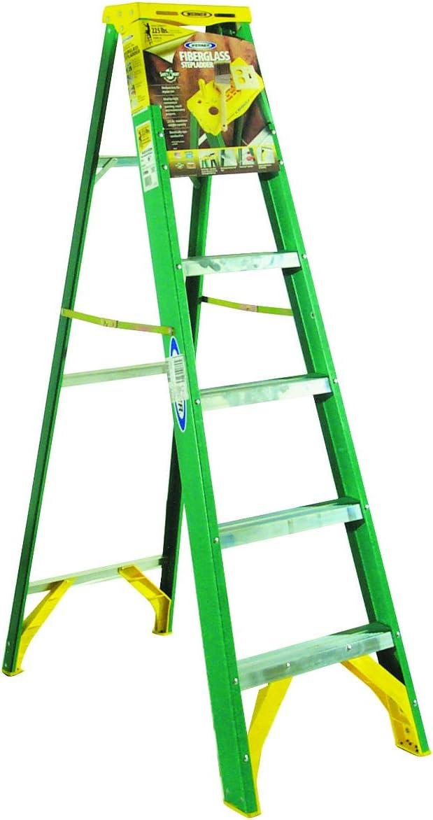 Werner 5906 Escalera de fibra de vidrio tipo II de 225 libras, 6 pies: Amazon.es: Oficina y papelería