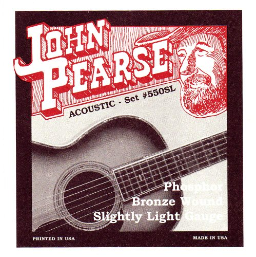 John Pearse Acoustic Guitar Strings Phosphor Bronze Slightly