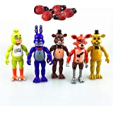 "BigZ 5 PCS Five Nights at Freddy's 6"" FNAF Action Figures With Light Kids Toy Collection"