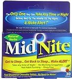 MidNite Natural Sleep Supplement, 30 Count Box