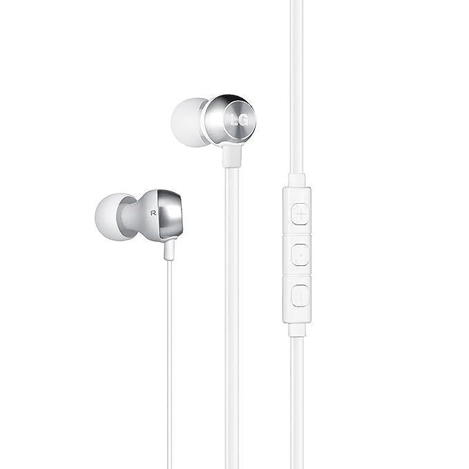 141 opinioni per LG Auricolare Stereo con Jack 3.5 mm, Tasto alla Risposta, Bianco