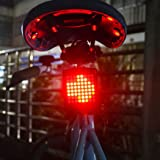 XWB Bicycle Rechargeable LED Tail Light Turn Signal Universal Mult-Function Rear Lamp Brake Light E-bike Steering Display Taillights