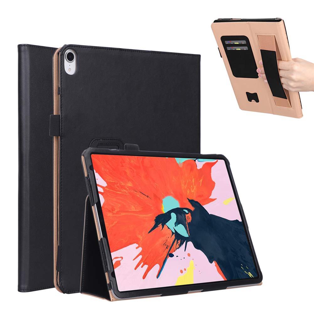 男女兼用 BasicStock iPad Pro Pro 12.9インチ 2018用ケース 超薄型保護PUレザーブックウォレットケース スタンド機能付き 耐衝撃ソフトカバー iPad B07L98TCHK iPad Pro 12.9インチ 2018用 ブラウン ブラック 6557-32-685 ブラック B07L98TCHK, アジアンマーケット KURISP:d5d22fc7 --- a0267596.xsph.ru