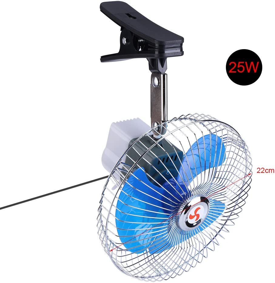 Stainless Steel Portable Practical Durable Clip-on Car Truck Dashboard Cooling Fan Mini Fan