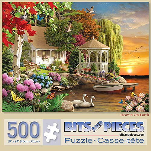 """Bits and Pieces - Heaven on Earth 500 Piece Jigsaw Puzzles for Adults - Each Puzzle Measures 18"""" X 24"""" - 500 pc Jigsaws by Artist Alan Giana"""