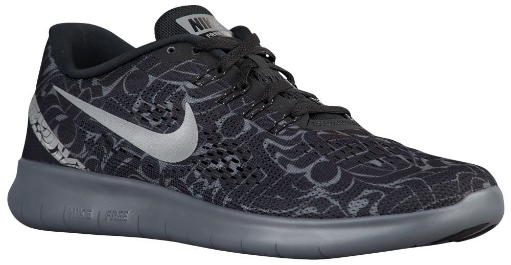 [ナイキ] NIKE スニーカー FREE RN B0728KWQJP US06.0|Black/Dark Grey/White/Reflective Silver
