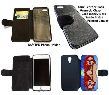 Amazon.com: Funda de piel sintética para iPhone 8 X y ...