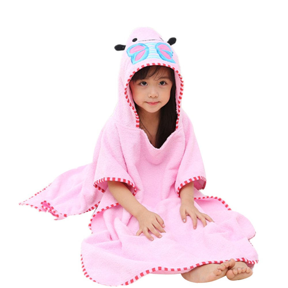 yaode Children Hooded Poncho Unicorn Baby Towel Super Soft Cartoon Bathrobes Swim Beach Bath Towel (Unicorn, M)