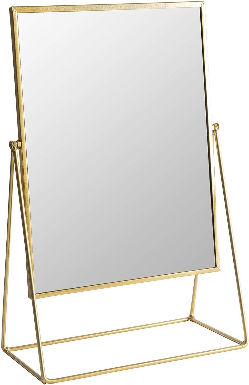 32cm Noir autoportant Miroir cosm/étique Maquillage Plateau de Table Harbour Housewares Coiffeuse Miroir