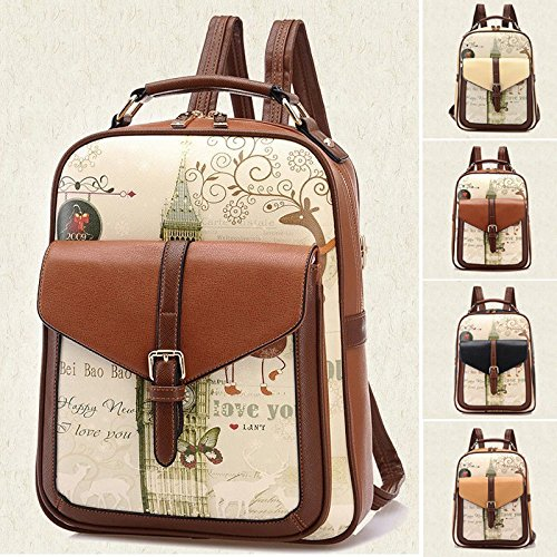 Women Girl Travel Casual School Bag Vintage Backpack Satchel Leather Shoulder PU - Latest Ferrari Price