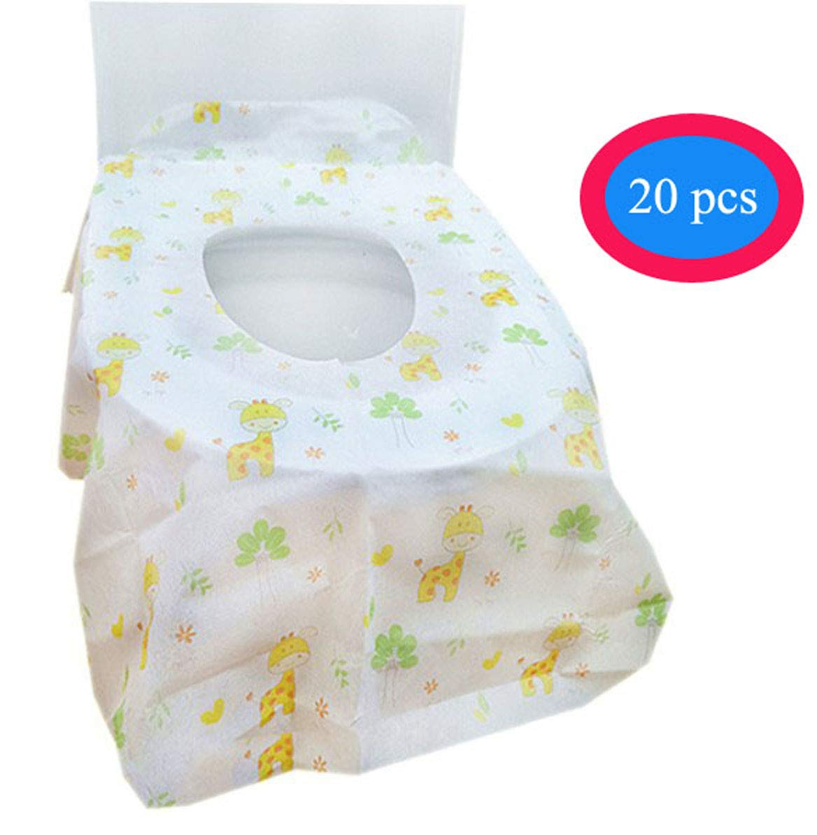 Toilet Seat Covers Disposable Disposable Toilet Seat Cover for Kids /& Elder /& Adult Pregnant Woman Travel Potty Training with Individually Wrapped Home Travel Use
