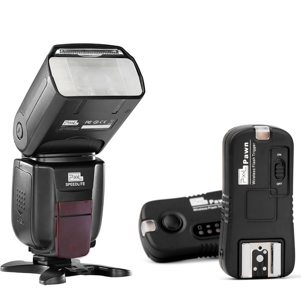 PIXEL X800N Standard Flash Kit Include: X800N Standard + Pawn TF-362 Wireless Flash Trigger for Nikon by Pixel