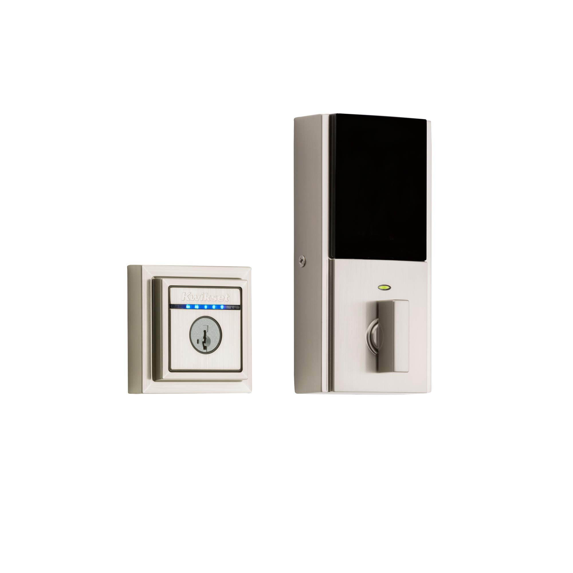 Kwikset 99250-206 Kevo 2nd Gen Contemporary Square Single Cylinder Touch-to-Open Bluetooth Deadbolt Satin Nickel by Kwikset (Image #3)