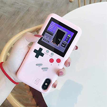 Gameboy Case for IPhone, Aolvo Retro 3D Protective Cover Case with 36 Small Game, Full Color Display, Shockproof Video Game Case for IPhone ...