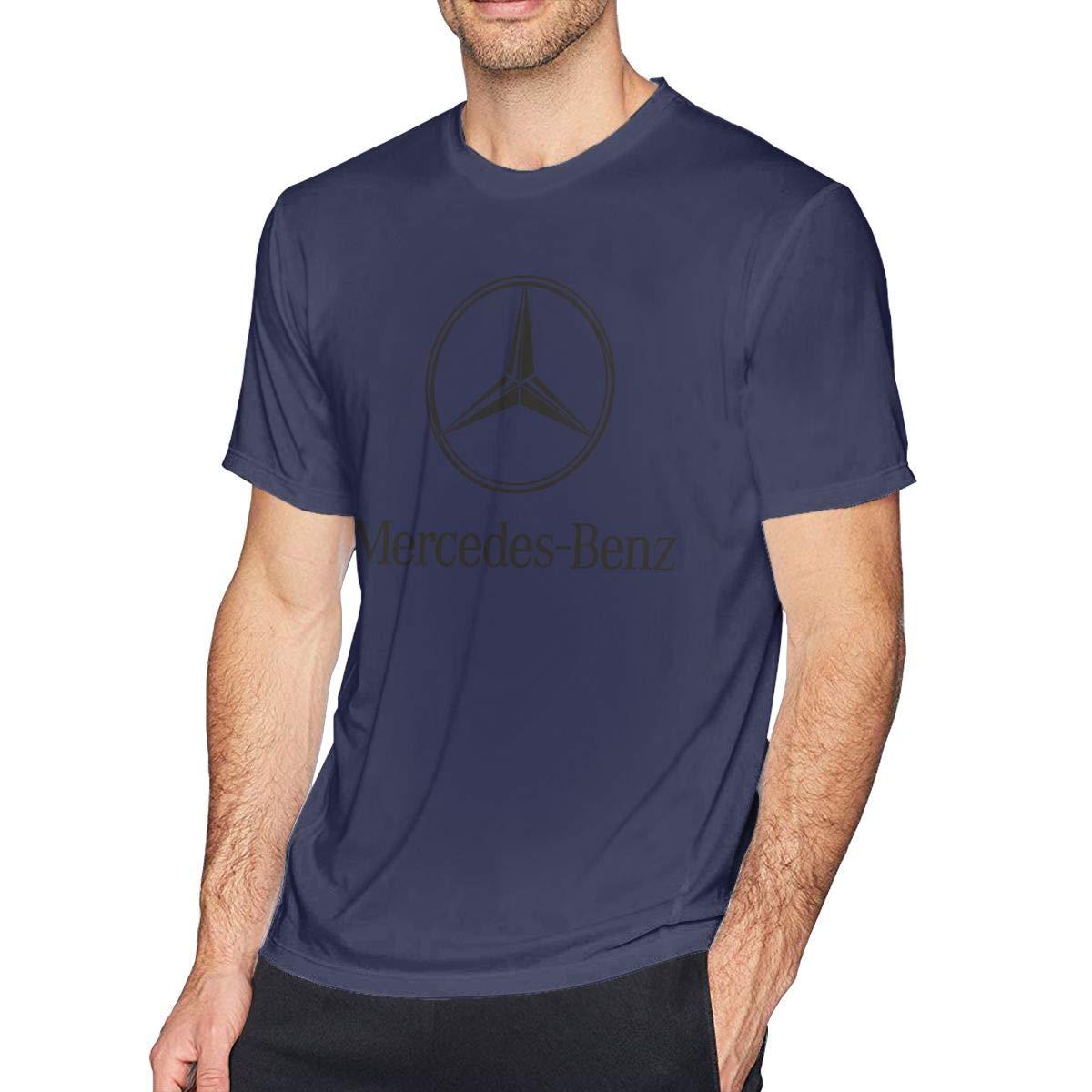 SHENGN Men Designed Mercedes Benz Logo O-Neck Funny Tshirts Deep Heather