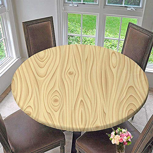 Mikihome Round Tablecloth Wooden TextureGrains of Wood Natural Tree Growth Lines of Nature Organic 55