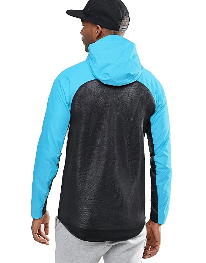 ae39d930d0f9 Nike Men s Tech Hypermesh Windrunner Jacket Hoodie White Blue Black Sz 2XL   Amazon.ca  Clothing   Accessories
