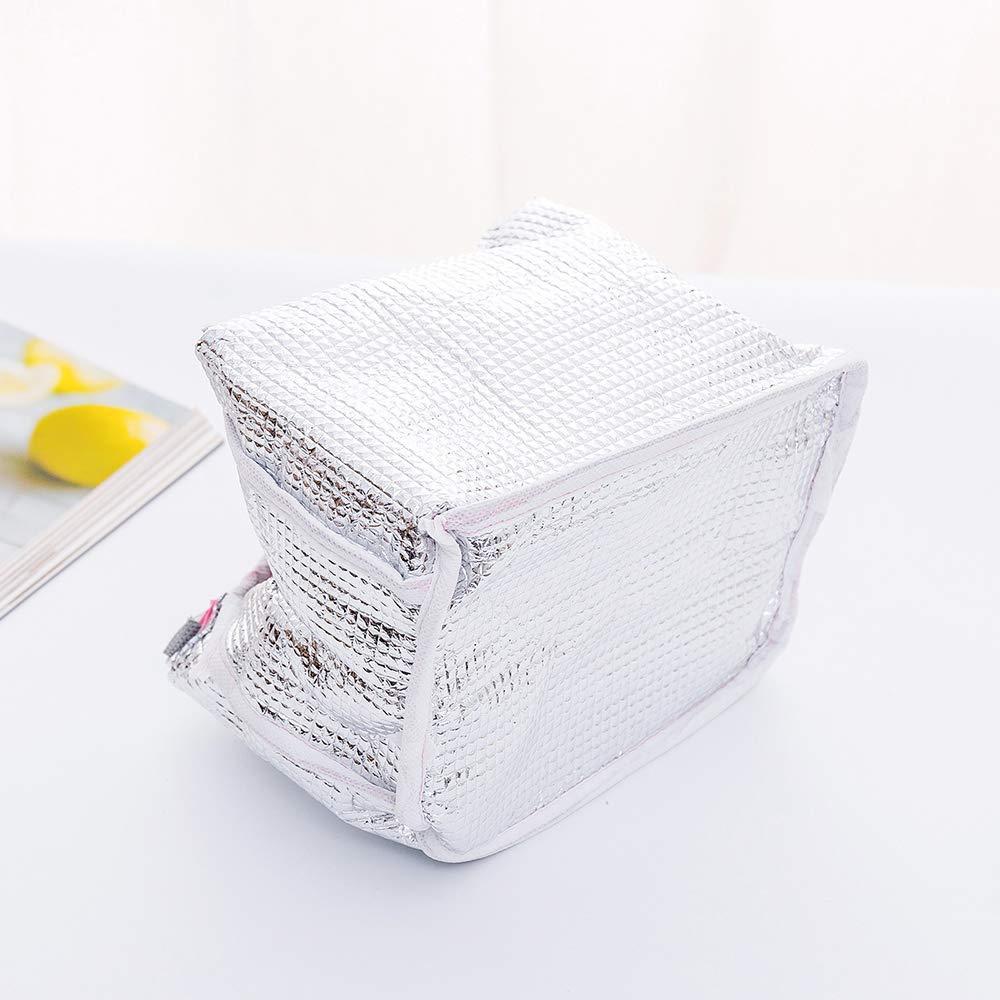 Cocodrilo Oyachic Bolsa Termica Bolsas de Almuerzo Lunch Bag Linda Mascota Bolsas de Cremallera Bolsa de Tela Algodon Merienda Impermeable Port/átil
