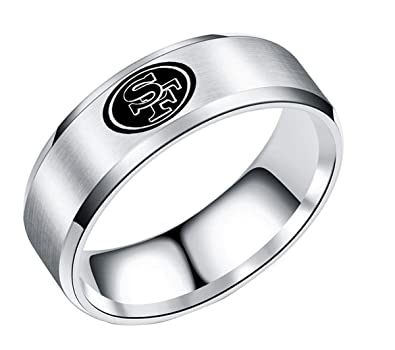 Amazon.com: Team San Francisco 49ers - Anillo de acero ...