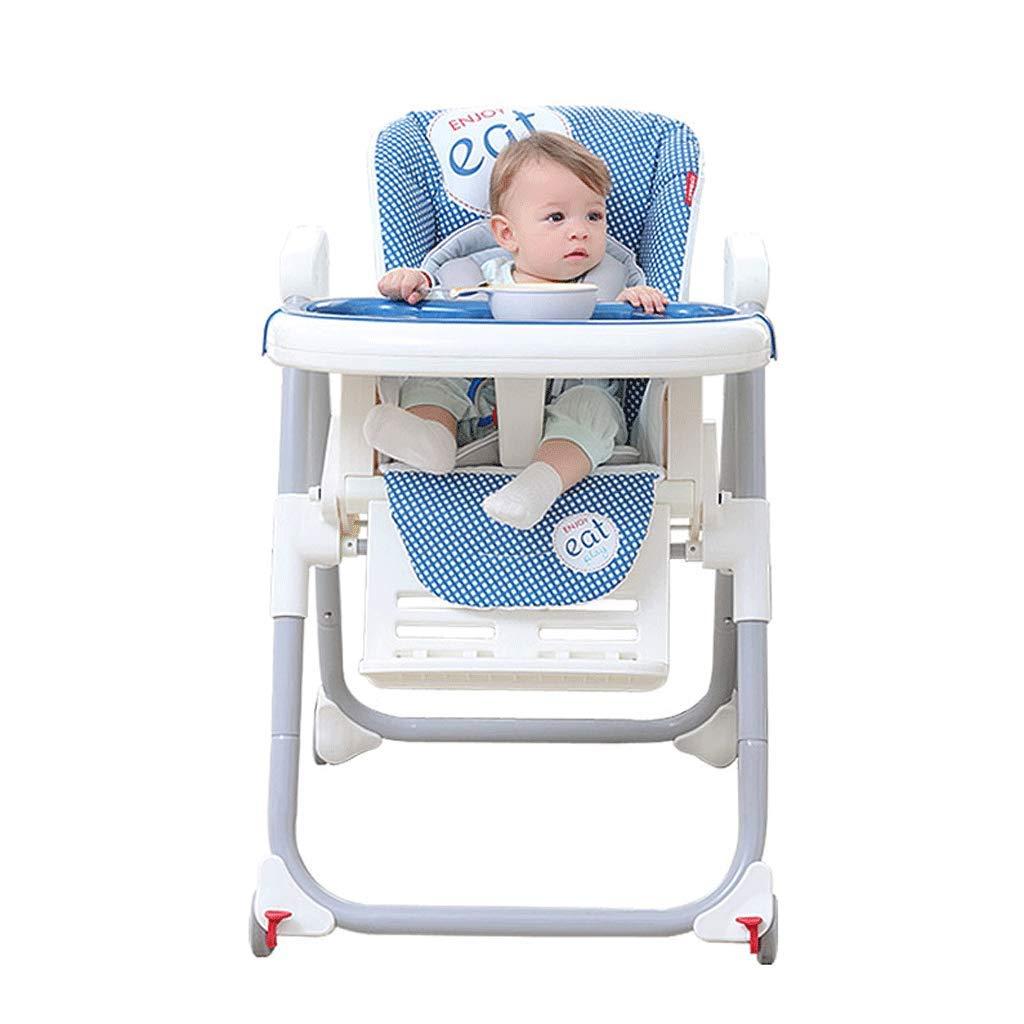 ブースターシート ポータブル食べる椅子赤ちゃんのブースター折りたたみ簡単に収納リクライニングは、ホームの屋外ダイニングチェアを座ることができます - 青 A+ (色 : 1#)  1# B07HQ86T7G