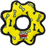 Tuffy Gear Ring Dog Toy, Junior, Bones, Yellow