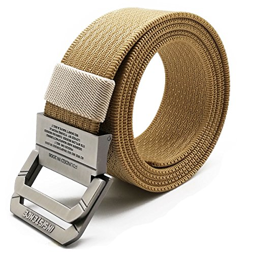 Ladies D-ring Belt (WYuZe Nylon Military Style Casual Army Outdoor Tactical Webbing D-ring Belt for Men)